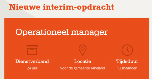 Interim-opdracht: operationeel manager