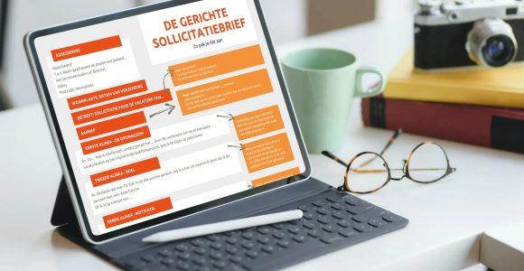 infographic voorbeeld gerichte sollicitatiebrief van ABGL